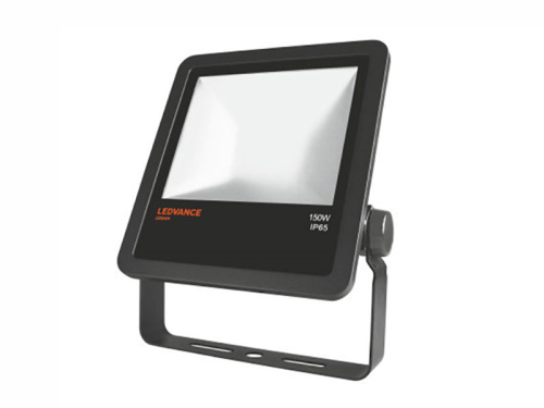 LED Floodlight outdoor schwarz, 15000lm, 6683cd, neutralweiß 4000K, 135W, Abstrahlwinkel: 100°, 230V, IP65