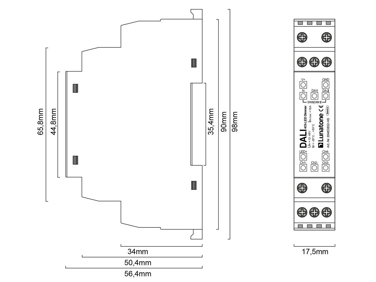 e2e19e4ccd0 DALI 4Ch LED Dimmer 16A