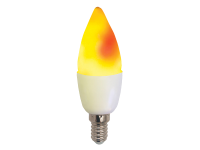 LED Fire Lamp weiß matt, E14, Kerze, bewegte Flamme, 230V, 14 LEDs, 1830K, IP20