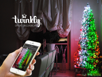 Twinkly Lichterkette - Smart Light - Gold 175 RBW-LEDs; Länge: 17,5m; IP44; mit APP steuerbar