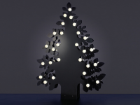 LED Silhouette Tree 45, warmweiß, HxB= 45x11cm, schwarz