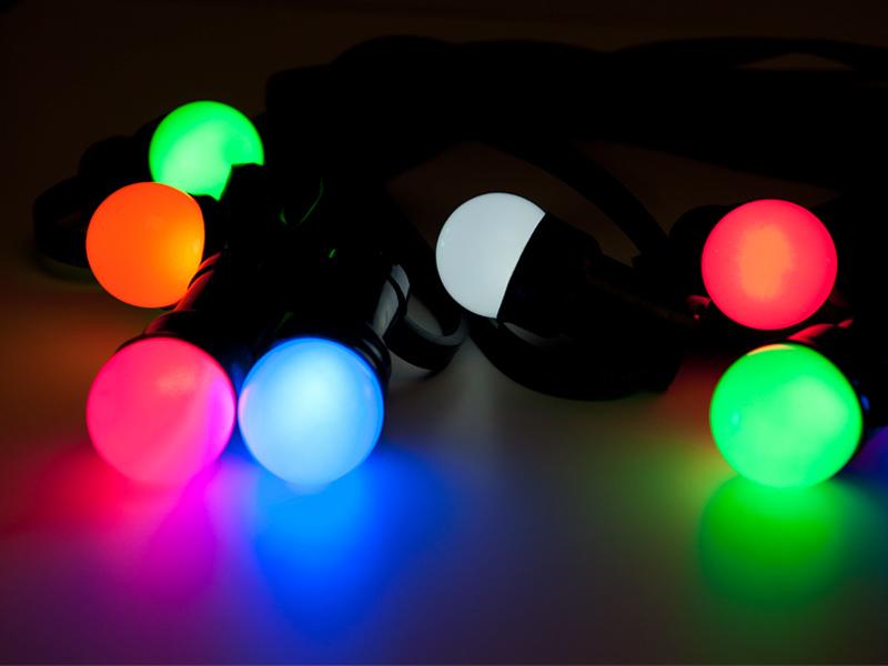 Partylichterketten mit E27-Fassung