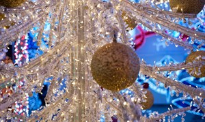 In eine glitzernde Welt der Weihnachtsbeleuchtung eintauchen