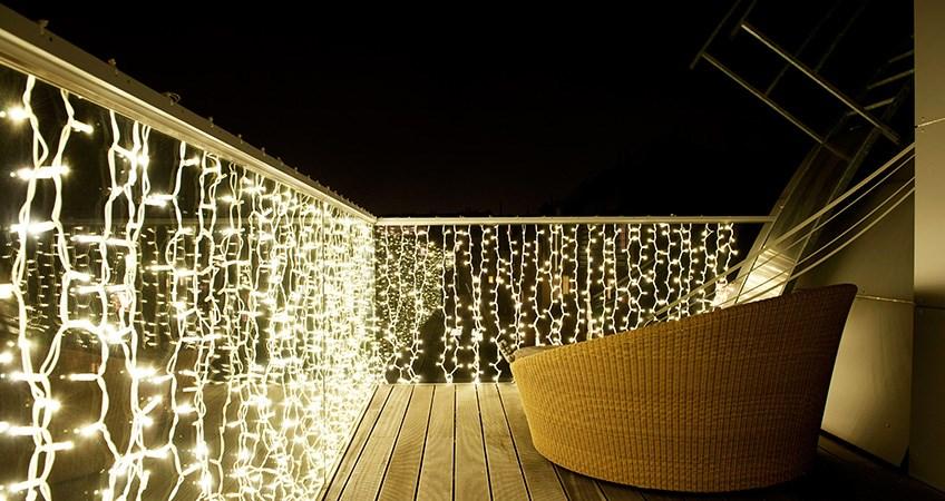 Weihnachtsbeleuchtung Balkon