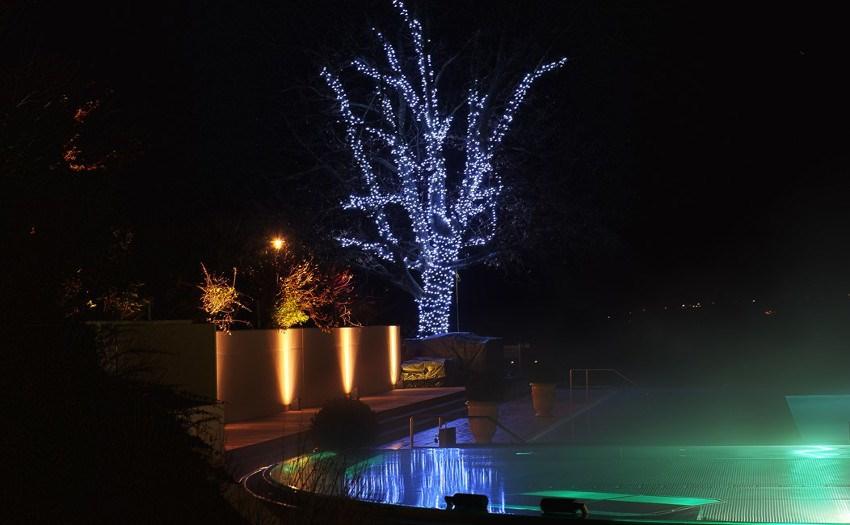 Weihnachtsbeleuchtung-Laubbäume